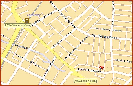 Hare Krishna Centre Leicester - Map
